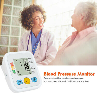 Automatic Upper Arm Digital Blood Pressure Heart Pulse Meter Monitor Health Home