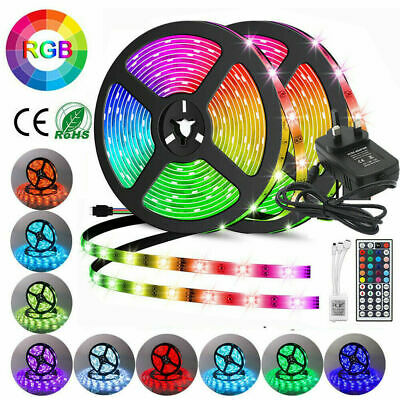 5050 Rgb Led Strip Lights Color Change Tape Under Cabinet Kitchen Waterproof Uk*