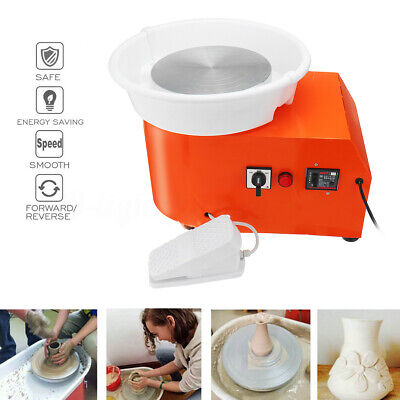 350W Electric Pottery Wheel Machine Ceramic Clay Art Foot Pedal Craft Work Tools