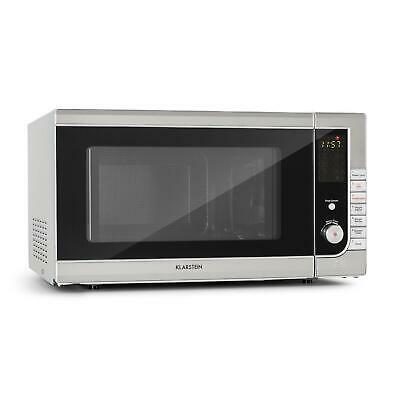 Klarstein CombiWave Microwave 43 Litres 1000 Watts 11 Power Levels Stainless