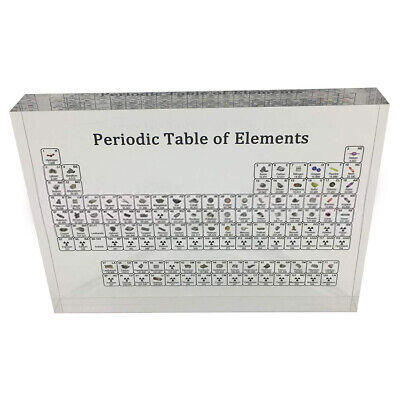 Acrylic Periodic Table Of Elements Table Display with Elements Kids Teachi T8Y5
