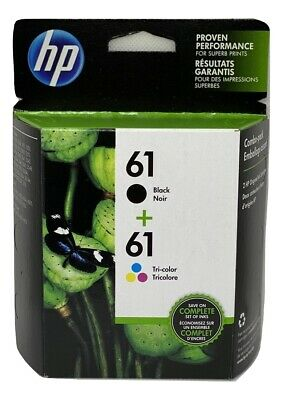 NEW Original HP 61 Black/Tri-Color 2-pack Ink Jets