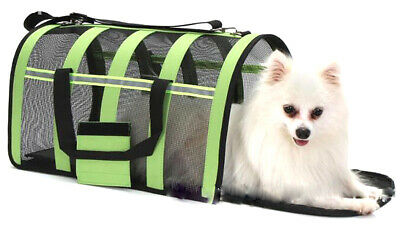 Folding Crate Travel Kennel Bag Cage Pet Puppy Dog Cat Fabric Portable Carrier