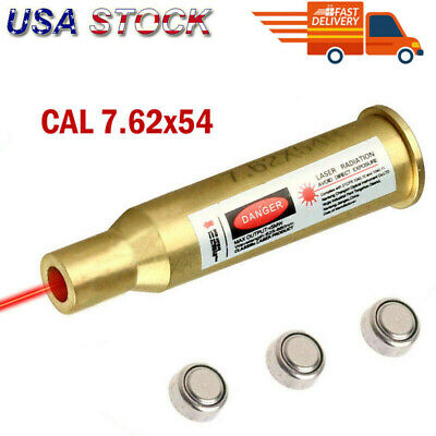 US Stock CAL 7.62X54 Red Dot Copper Laser Bullet Shaped Bore Sighter Cartridge
