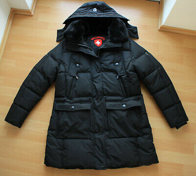 Details zu WELLENSTEYN Icehouse Lady NEU XL Darkbrown Winter Parka long