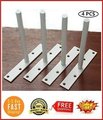 "RigMore 6/"" Solid Steel Floating Shelf Bracket Blind Shelf Supports 4 pcs"