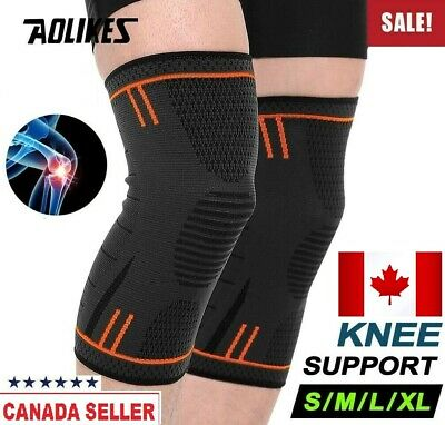 New Knee Sleeve Compression Brace Support For Sport Joint Pain Knee Protector