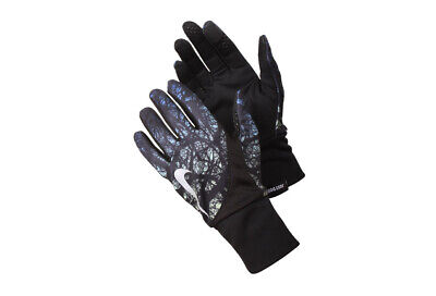 Nike Women's Printed Dri-Fit TailWind Running Gloves Ghost Green/Black Size XS