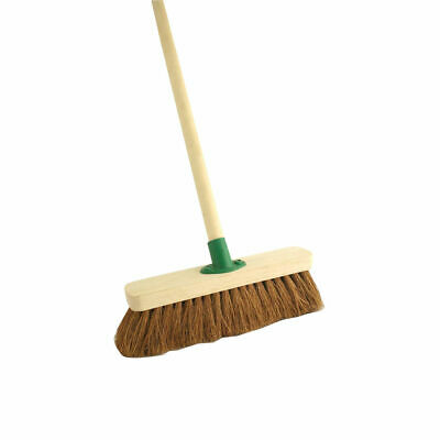 """NEW! Coco Soft Broom with Handle 12 """" F.01/Black T/C4"""