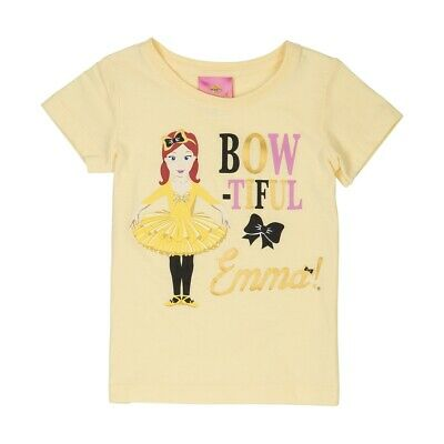 THE WIGGLES EMMA BOWTIFUL Girls Licensed  tee t shirt top New Free postage