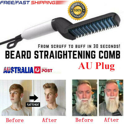 Quick Beard Straightener Multifunctional Hair Comb Curling Curler Show Cap TOPE&