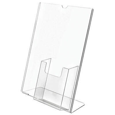 DEFLECTO Sign and Literature Holder,8-1/2x11, 590501GR, Clear