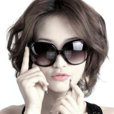 Large Oversized Oval Sunglasses Women Fashion Thick Retro Frame Gradient Lens