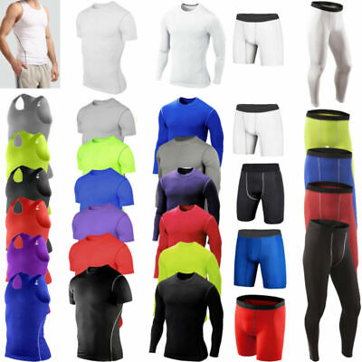 Men Compression Under Skin Base Layer Tops Trainning T-Shirt Activewear Trousers