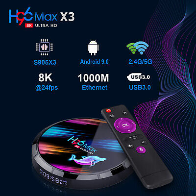 H96 S905X3 8K Ultra HD 3D 64Bit Wifi For Android 9.0 Quad Core Smart TV Box Gift