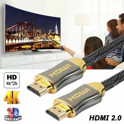 4K Ultra HD HDMI Cable V2.0 3D High Speed Gold Plated Ethernet Cable 1m 2m 3m