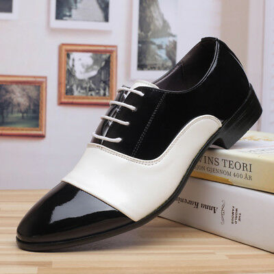 Clothing Shoes Accessories Dress Shoes Fashion Men Business Patent Leather Lace Up Dress Formal Wedding Shoes New Chic Sraparish Org