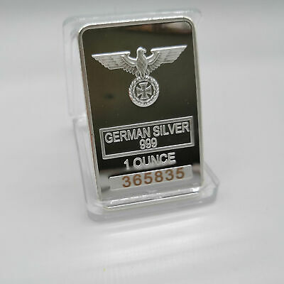 German Coin Collection Artifacts Fine Silver Bar With Eagle LIMITED WW2 Vintage