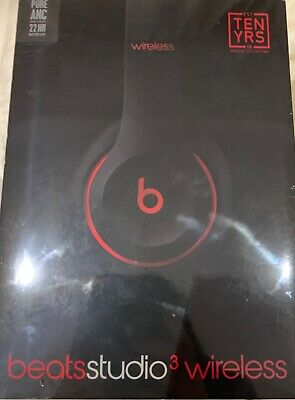 Beats Studio 3 Wireless Over Ear Headphones Black Red Brand New Sealed Box 143 45 Picclick Uk