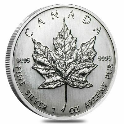 Canada 1989 $5 Silver Maple Leaf Proof 1 Oz .999 Silver Wooden Box Tax Exempt