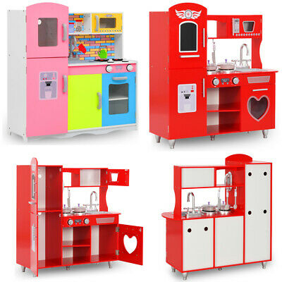 Large Girls Boys Kids Wooden Play Kitchen Role Play Pretend Toy Furniture 2 Size