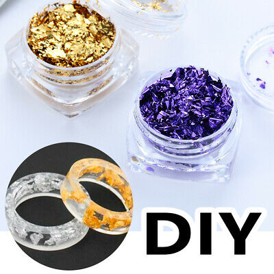 Jewelry Making Crystal uv accessories Resin filler Filling Materials Gold Foil
