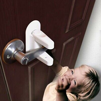 1pc Door Lever Lock For Baby Safety Handle LockS Safety Baby Child Protection/