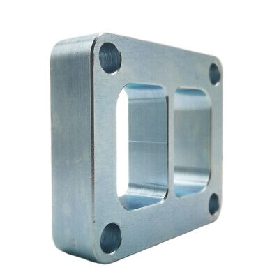 """T4 Divided Inlet 1/""""inch Spacer Turbo Flange Divorced Twin Scroll Ports CNC S400"""