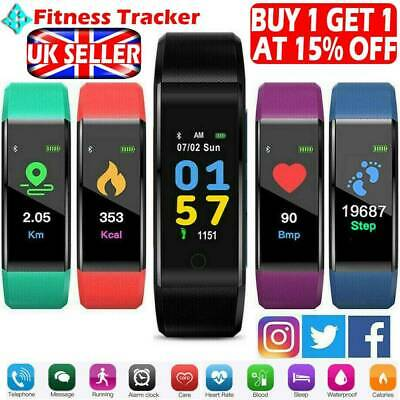 Women Men Kids Yoga Fitness Smart Watch Activity Tracker Fitbit Android iOS