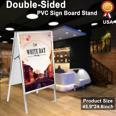 Portable Foldable A-Frame Double-Sided PVC Sign Board Stand Sidewalk Menu Sign