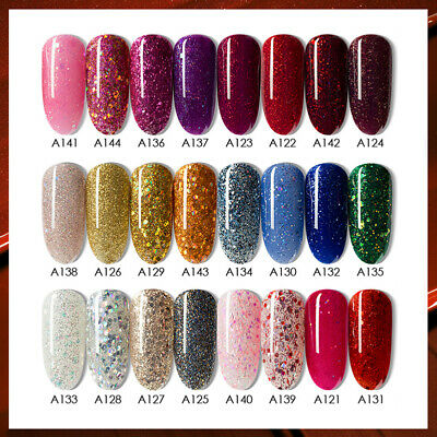 24Colors 8ml UV Gel Nail Polish Soak Off UV/LED Gel Nails DIY LILYCUTE Tools