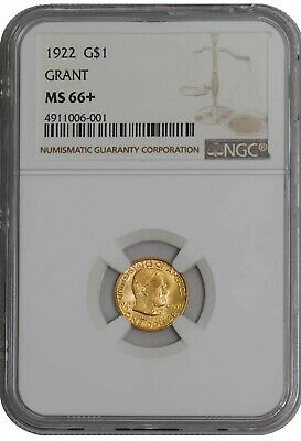 1922 $ Gold Grant Dollar MS66+ NGC 941397-13