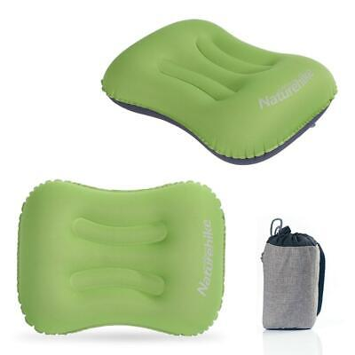 Mini Ultralight Inflatable Air Pillow Cushion Travel Hiking Camping Rest Green