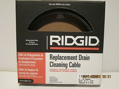 "Ridgid 62270 C-8 Drain Cleaning Machine Cable 5/8"" x 7-1/2'-FREE SHIPPING-NISB!!"