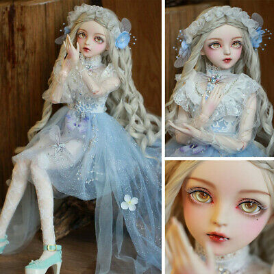 60cm BJD Doll 1/3 Ball Jointed Girl Gift Moveable Eyes Wigs Clothes B-Day Gift