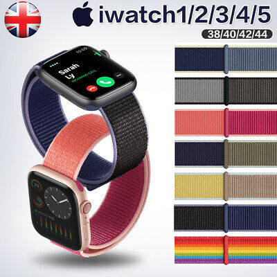 For iWatch Apple Watch Nylon Sport Loop Woven Strap Band Series 5/4/3/2 38-42MM