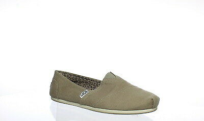 Bobs By Skechers Womens Peace And Love Taupe Flats Size 7.5 (144837)