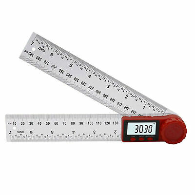 0~360 ℃ Digital Angle Finder Electronic Digital Protractor Stainless Ruler