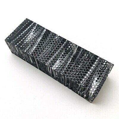 2PCS Black&White Honeycomb Non-slip Resin Patch Hand Grips For Hand Grips/Crafts