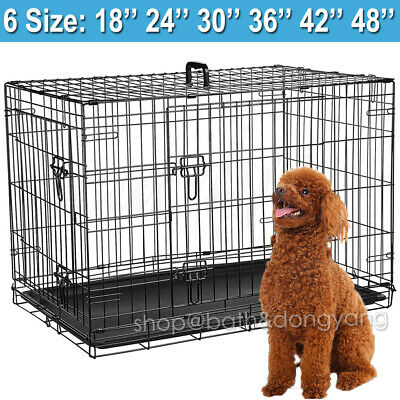 Small Medium Large XL XXL Pet Dog Cage Crate Foldable Travel Transport Carrier