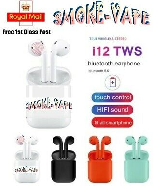 I12 Tws Wireless Pods Bluetooth 5.0 Earphones Touch Control Earbuds Latest Uk