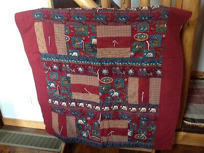 """Amish Hand Made Quilted Throw Wall Hanger 61 1/4"""" X 47"""" EUC Moose  Alaska Winter"""
