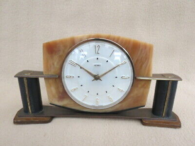 Vintage Metamec Acrylic And Brass Remontoire Movement Clock For Spares Or Repair