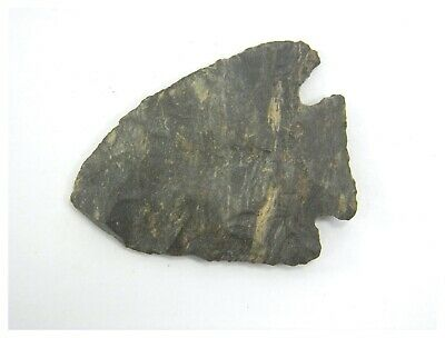 Antique Neolithic stone age hand carved arrow head rock quartz 12gms #20