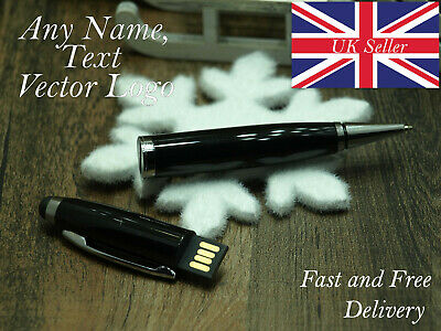 Personalised pen with USB flash drive office ballpoint desk cute funny birthday