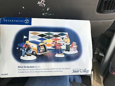 Department 56 The Original Snow Village Before The Big Game 56.55019 NEW 4 Set
