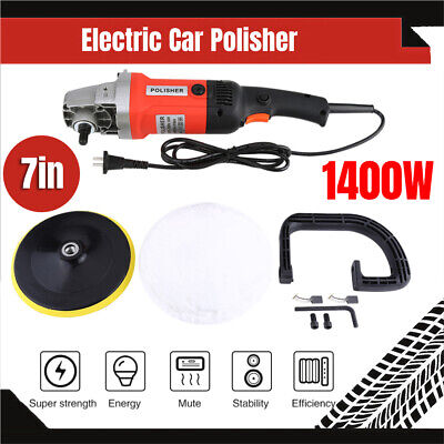 Car Polisher Buffer Sander Electric Polishing kit Variable Speed 1400W 180mm AU