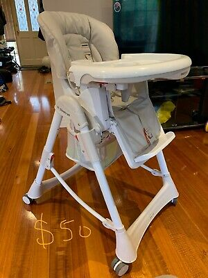 High chair (Steelcraft white, used)