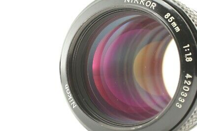 [EXC++++] Nikon New NIKKOR 85mm f/1.8 Ai Converted  Lens w/Hood  JAPAN #1010