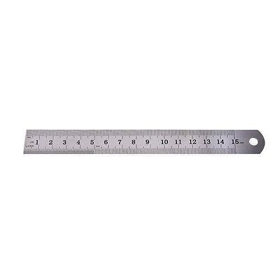 1PC Metric Rule Precision Double Sided Measuring Tool  15cm Metal Ruler C9
